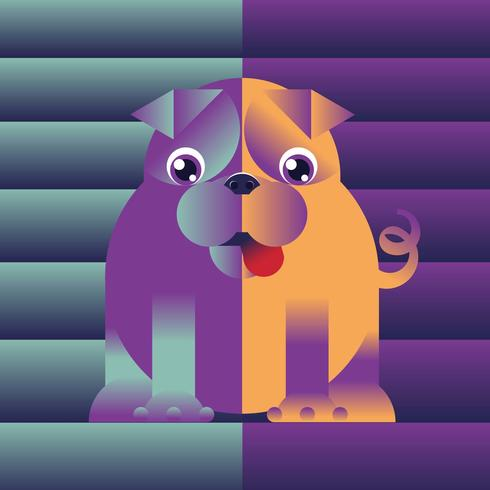 Abstract Dog IllustrationVector
