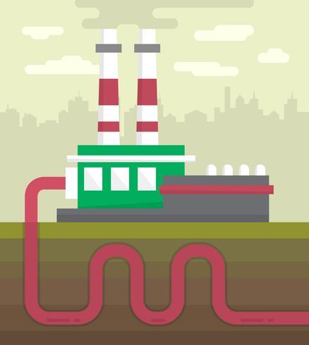 Paysage de vecteur sur la pollution