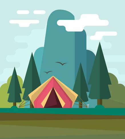 Flat Camping Landscape