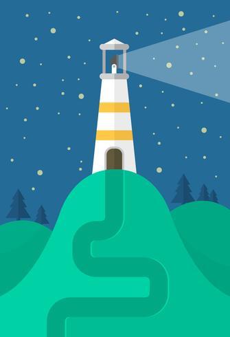 Flacher Leuchtturm