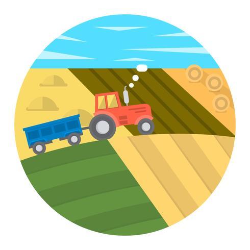 Ilustração de fazenda plana