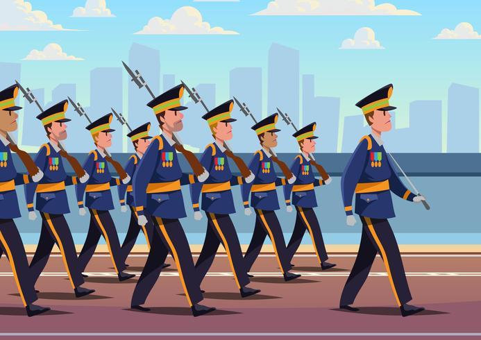 Formation de parade militaire