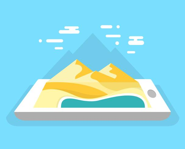 Flache mobile Navigation