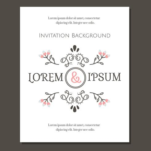 Vintage Invitation Template Vector  Download Free Vector Art Stock