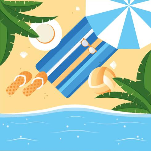 Vektor-Sommerferien-Design-Illustration