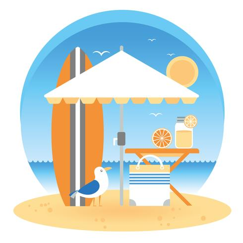 Vector Summer Vacation Illustration