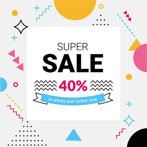 Vector Super Sale Angebot Design