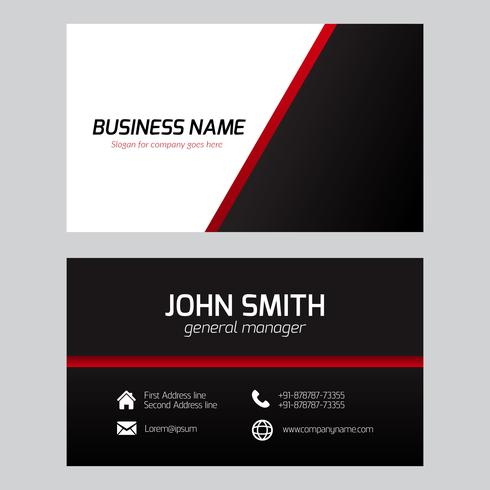 Free vector clean business card template download free vector art free vector clean business card template colourmoves