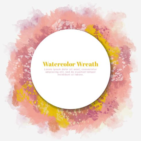 Vector Watercolor Wreath