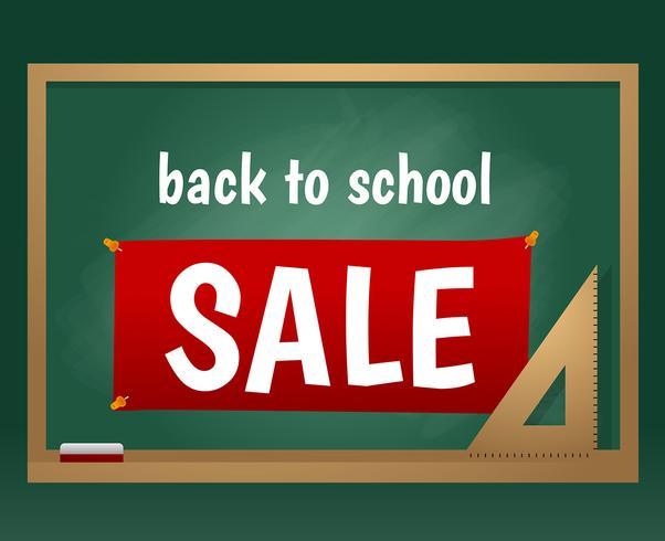 Terug naar School Sale Chalk Board Vector