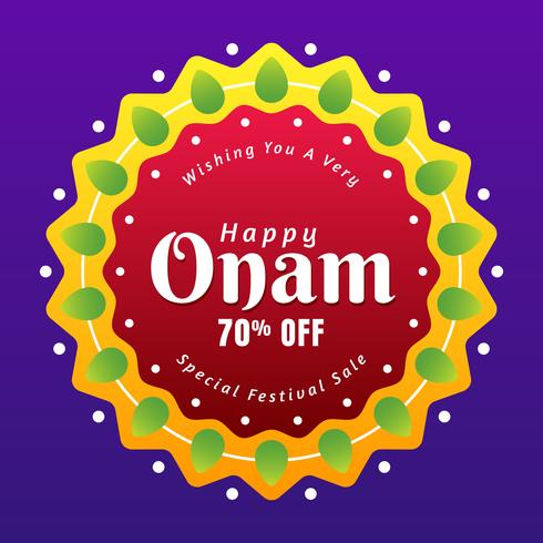 Decorated Text Onam Sale In Creative Frame Design