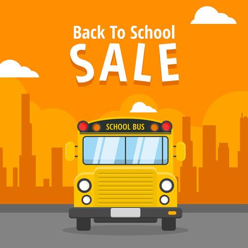 Back to School Sale School Bus Vector