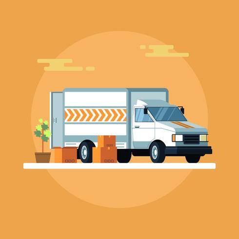 Expédition par vecteur de camion de déménagement