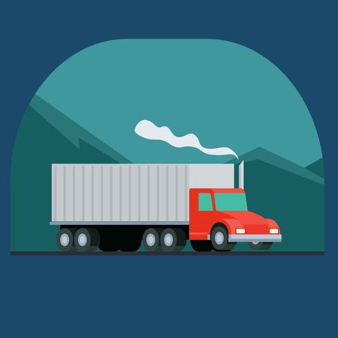 Vetor de ilustração de caminhão em movimento