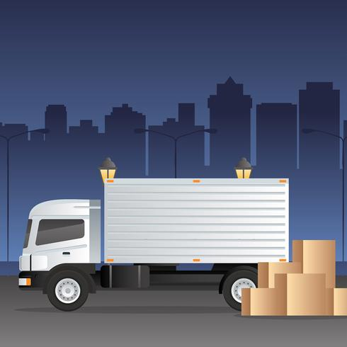 Moving Truck Logistic Vector