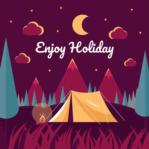 Nacht Camping illustratie Vector