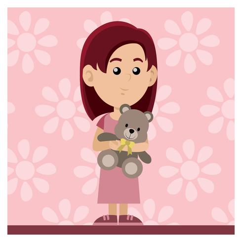 Tjej med docka
