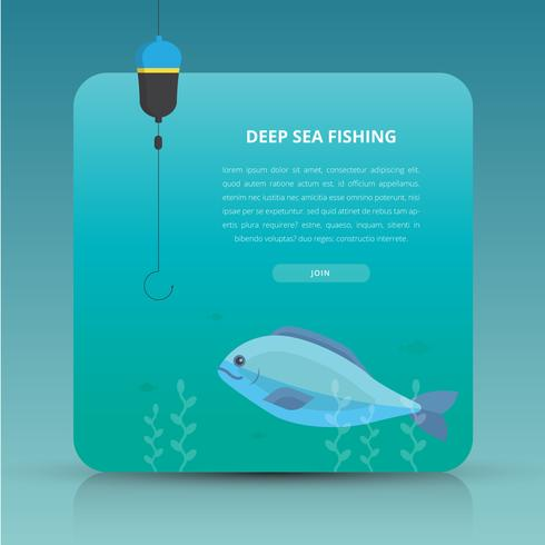 Deep Sea Fishing Event Invitation Template.