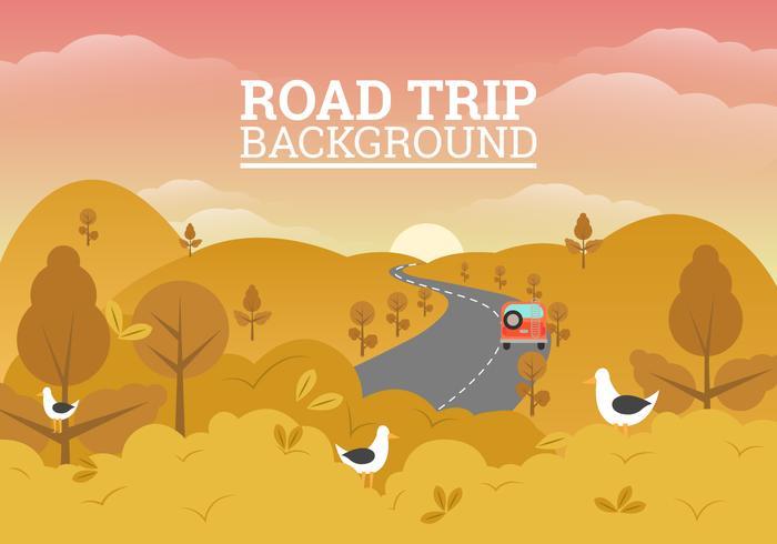 Ilustração de fundo de viagem por estrada