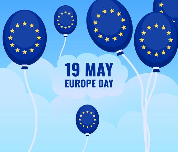 Outstanding Europe Day Vectors