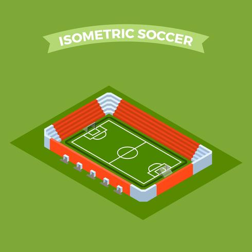 Illustration vectorielle de plat isométrique Soccer Stadium