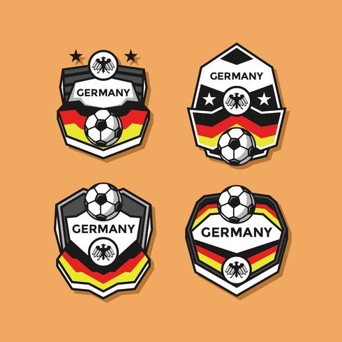 Tyskland Soccer Patches Vector