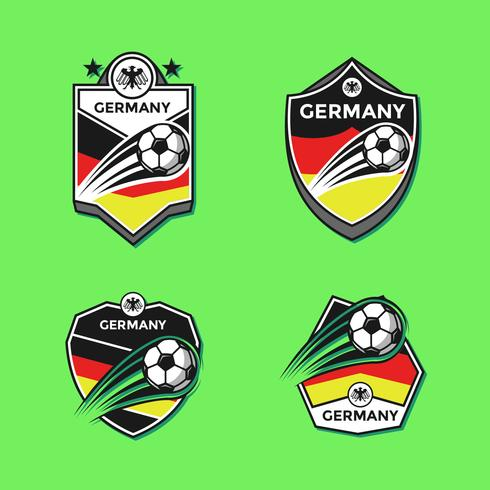 Club de Football Allemagne Patches Vector