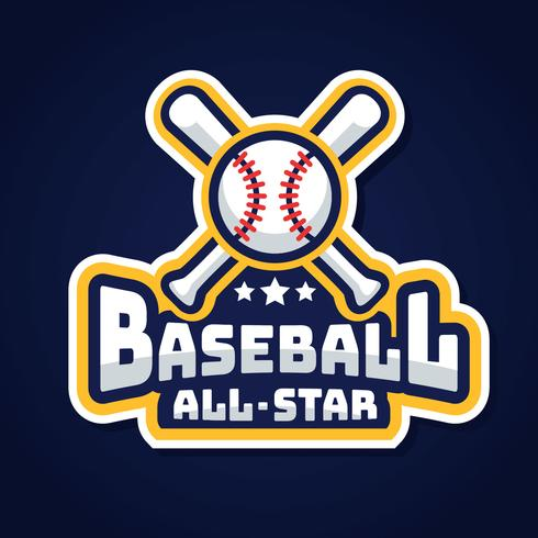 Vecteur de baseball All-Star Logo