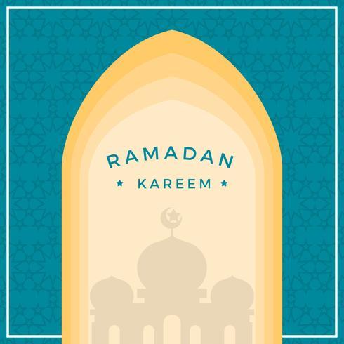 Ilustración plana del vector de Ramadán