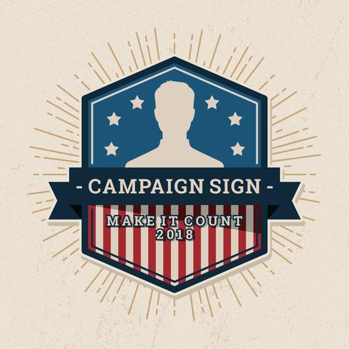 Rótulo de sinal de campanha