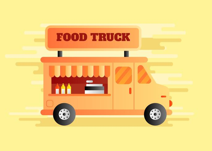 Illustration vectorielle de camion alimentaire
