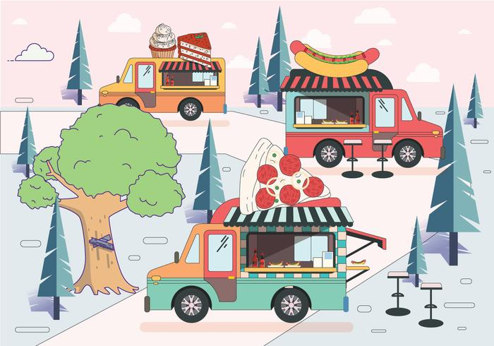 vector de festival de camión de comida