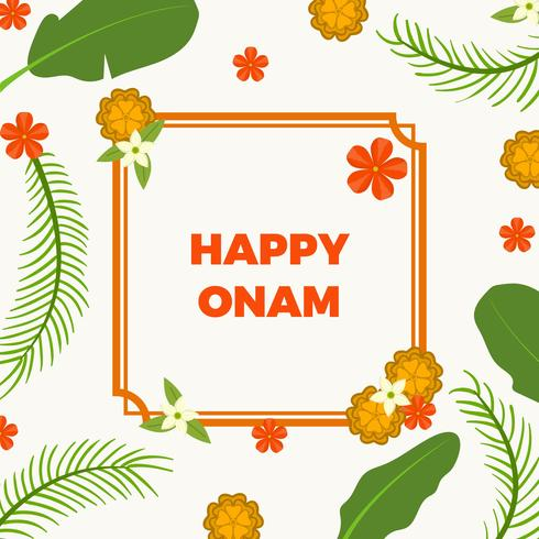 Illustration vectorielle de plat heureux Onam