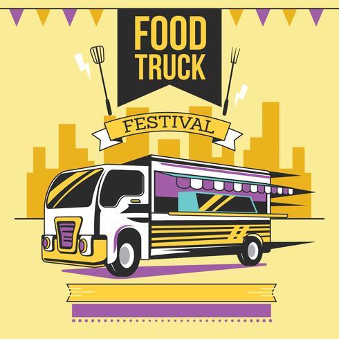 Affiche de festival de camion de nourriture de rue