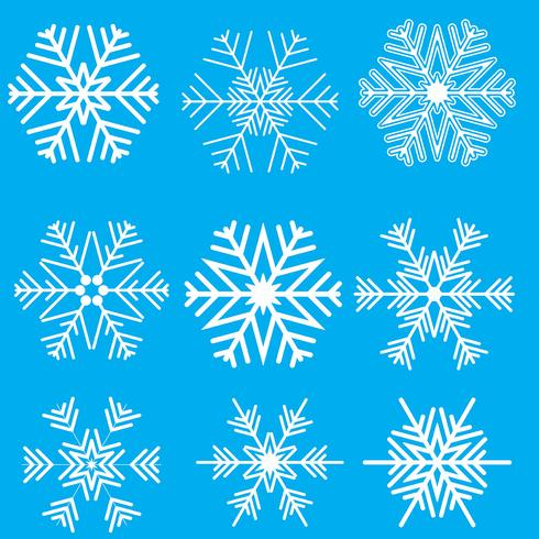 Collection of snowflake designs
