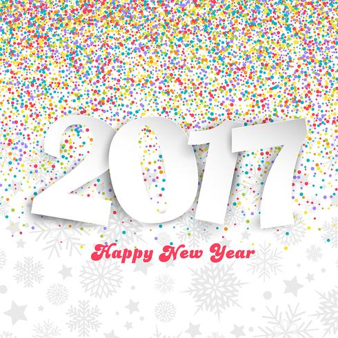 happy new year background with colourful confetti