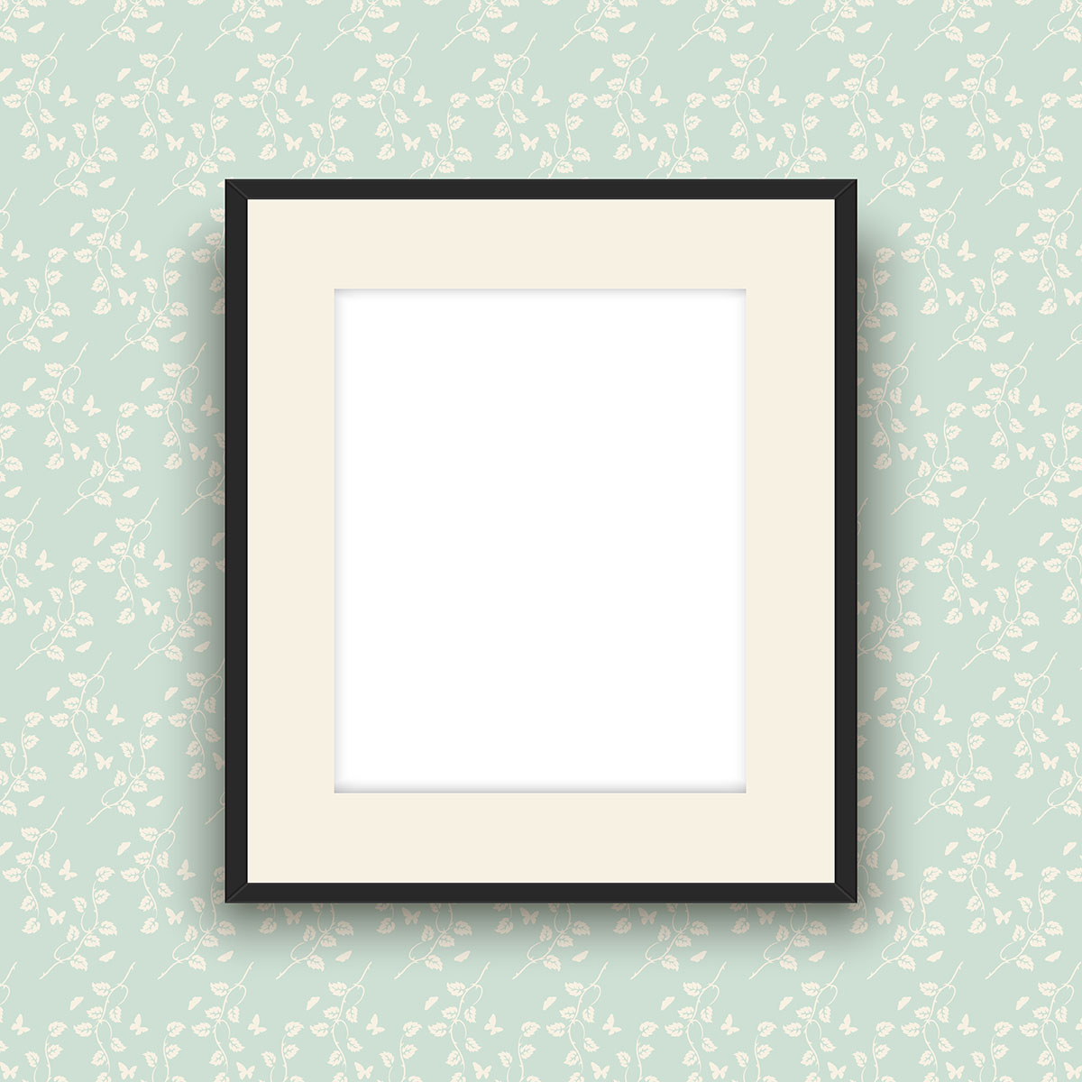 Blank picture frame on vintage style wallpaper download for Small vintage style picture frames