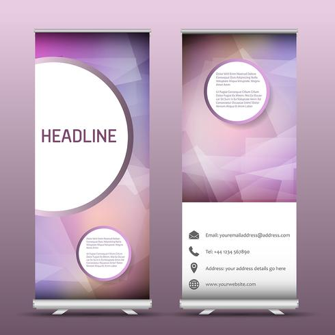 Advertsing roll up banners with abstract design
