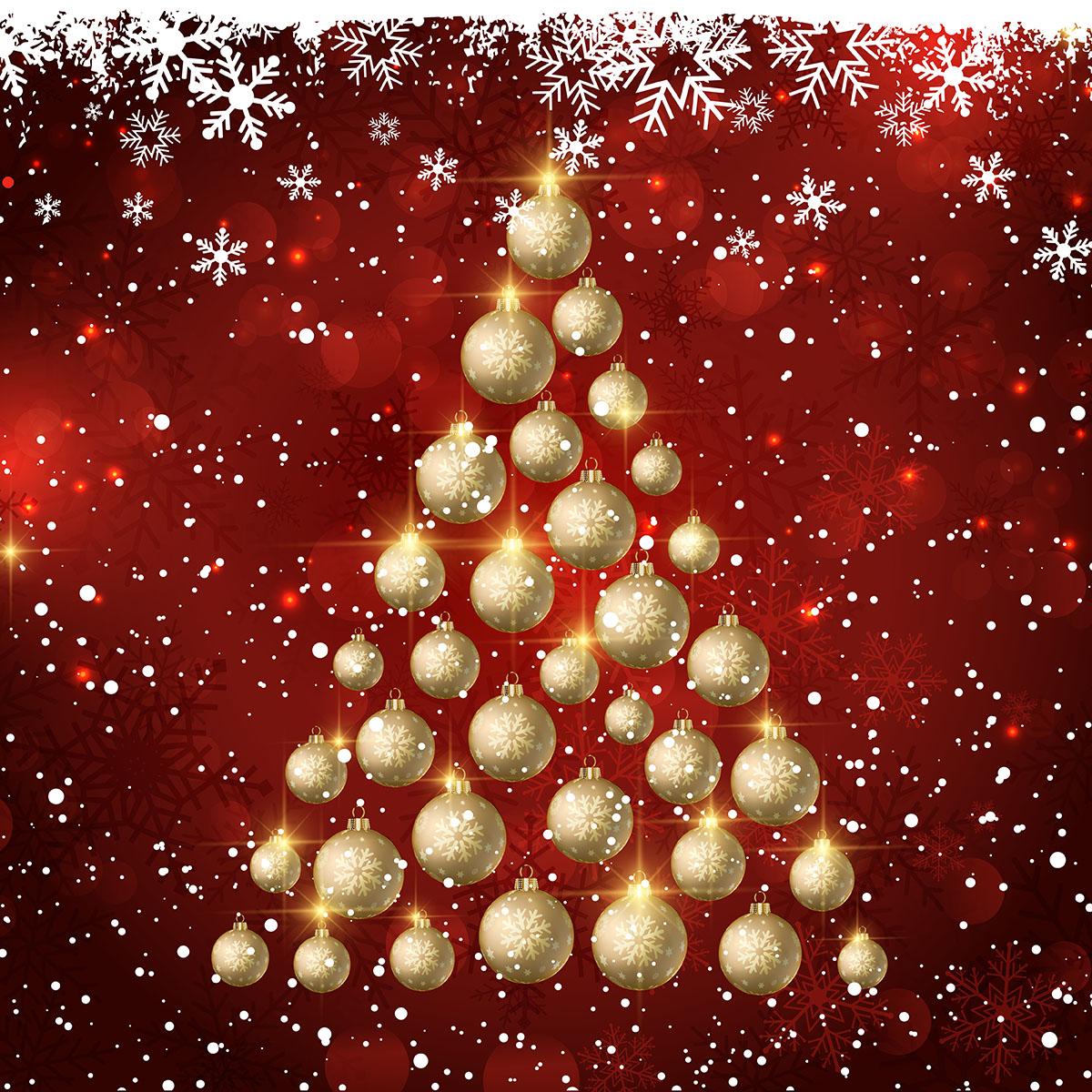 Retro White Christmas Tree