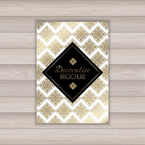Decorative brochure design