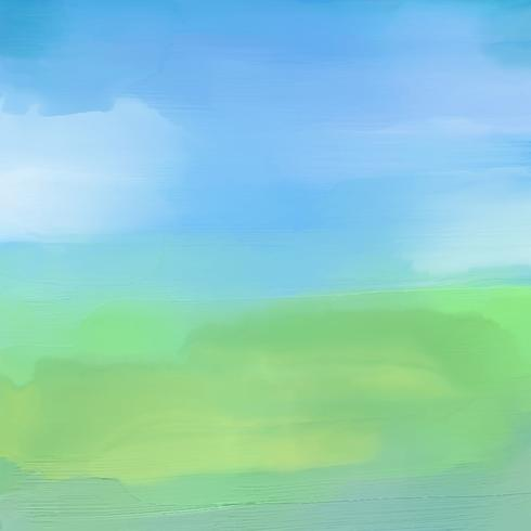 Abstrakte Landschaft im Aquarell