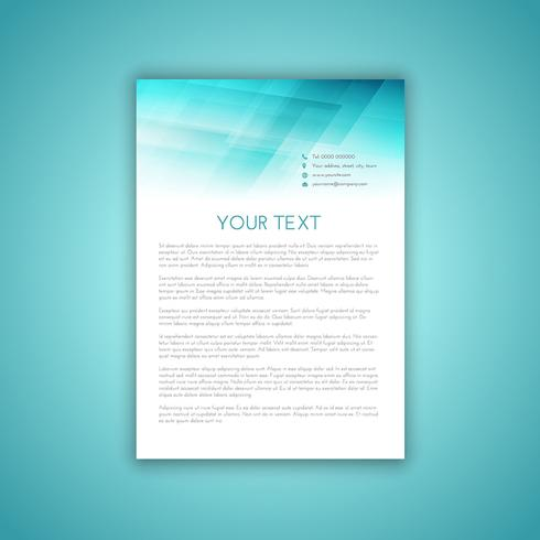 Business letterhead template 2406