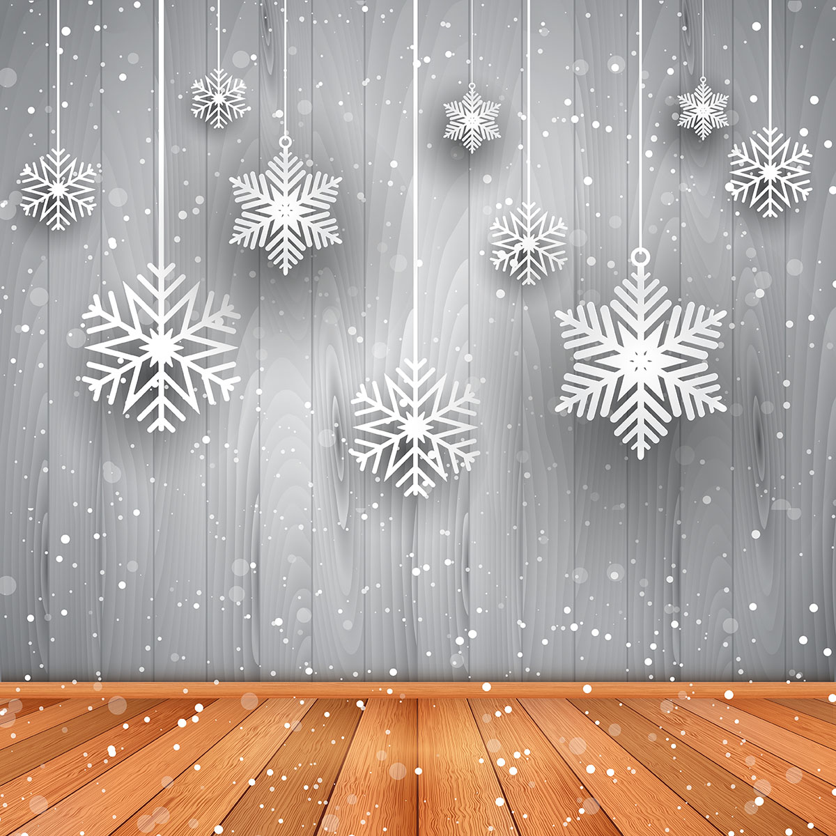 Christmas background of hanging snowflakes - Download Free ...