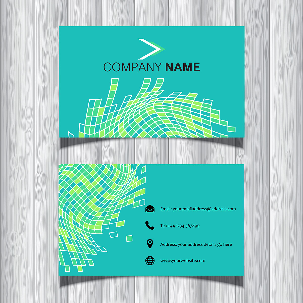 Blue Corporate Stationary Pack By Betty Design: Abstract Business Card Design
