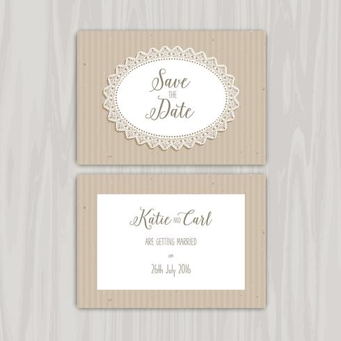 Save the date vintage invites