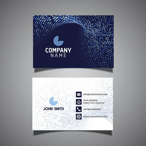 Modern business card with halftone dots design