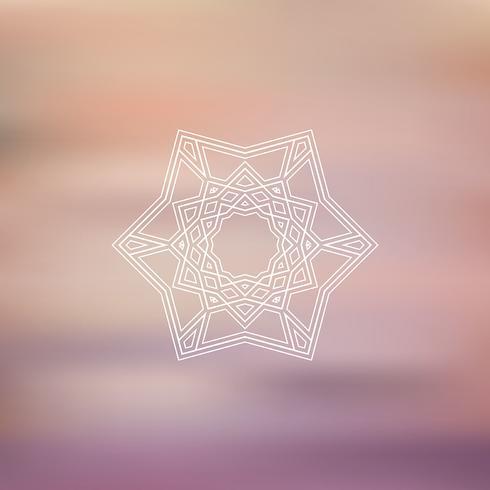 Geometric star on blurred background
