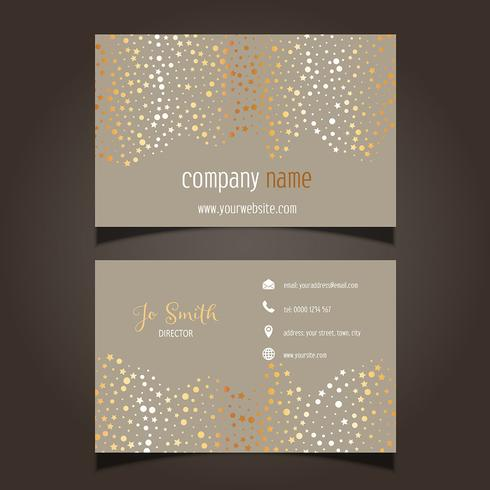 Gold stars business card layout