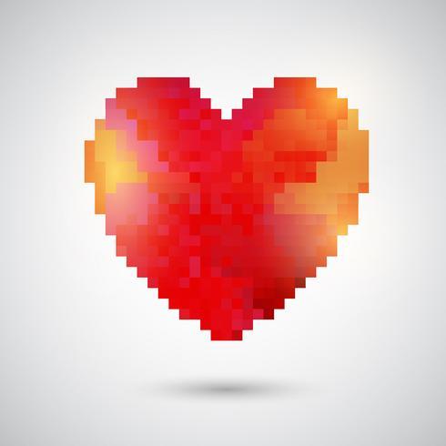 Coração de pixel