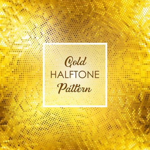 Gold halftone pattern background